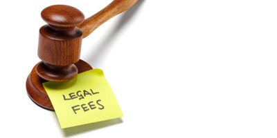 Legal Fees next to gavel